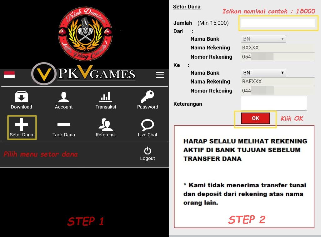 Cara Deposit Situs Pkv Games